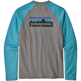 Patagonia P-6 Logo LW Crew Trui Heren, feather grey with mako blue